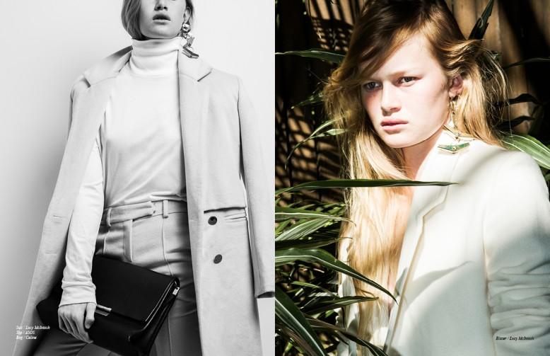 Suit / Lucy McIntosh Top / ASOS Bag / Celine Opposite Blazer / Lucy McIntosh