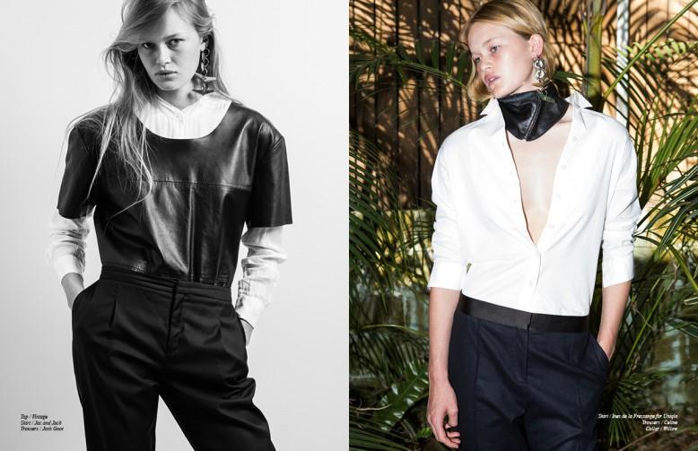 Top / Vintage Shirt / Jac and Jack Trousers / Josh Goot Opposite Shirt / Ines de la Fressange for Uniqlo Trousers / Celine Collar / Willow