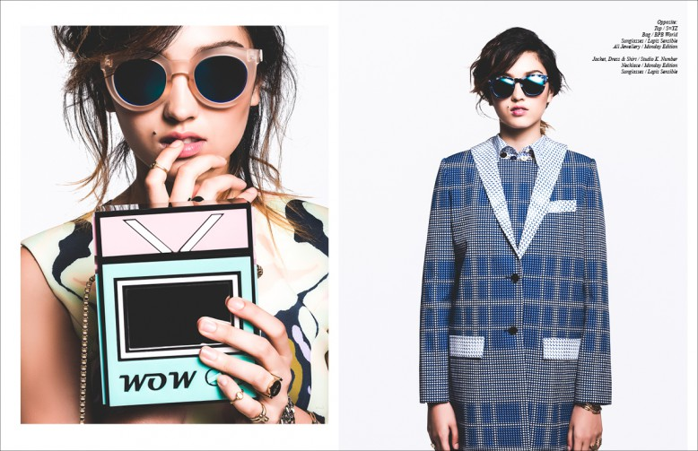 Top/S=YZ  Bag / BPB World Sunglasses / Lapiz Sensible All Jewellery / Monday Edition Opposite Jacket, Dress & Shirt / Studio K. Number  Necklace / Monday Edition Sunglasses / Lapiz Sensible
