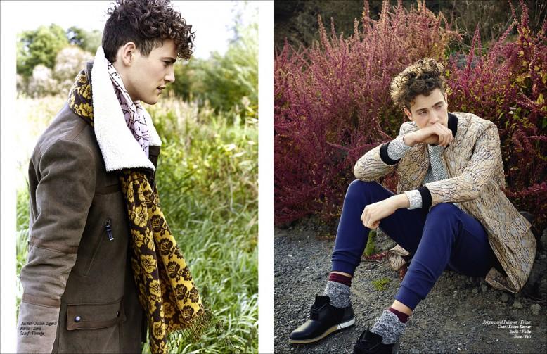 Left to Right/ Jacket / Julian Zigerli  Parka / Zara Scarf / Vintage Opposite Joggers and Pullover / Frisur  Coat / Kilian Kerner  Socks / Falke  Shoes / Velt