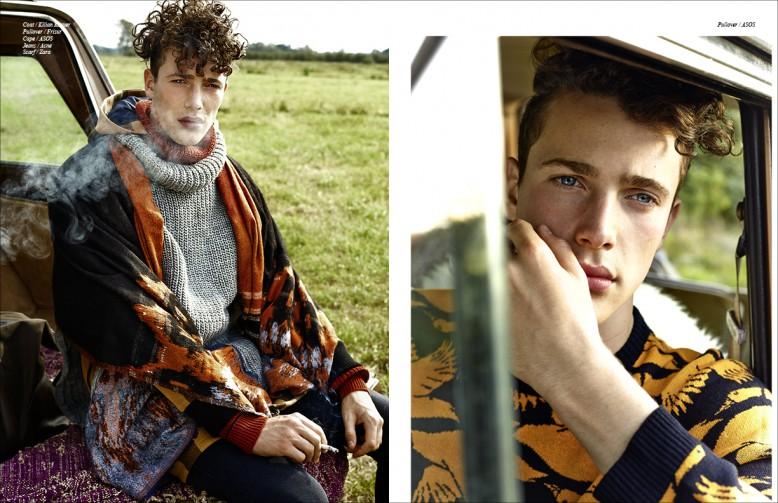 Left to Right/ Coat / Kilian Kerner  Pullover / Frisur Cape / Asos Jeans / Acne Scarf / Zara Opposite Pullover / Asos