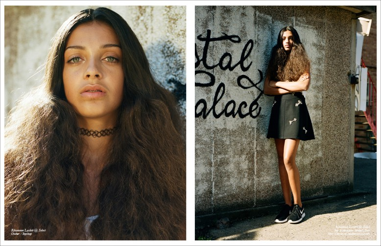Rhiannon Laslett @ Select Choker/ Topshop Left/ Rhiannon Laslett @ Select Top & Necklace / Model Skirt/ @Feathersonline.com