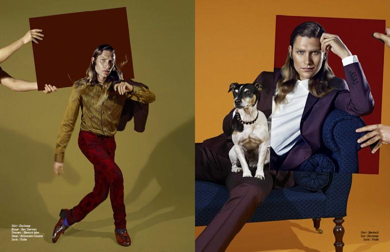 Left to Right/ Shirt / Duchamp Blazer / Ben Sherman Trousers / Hentsch Man Shoes / Billionaire Couture Socks / Falke Opposite/ Shirt / Berthold  Suit / Duchamp  Socks / Falke