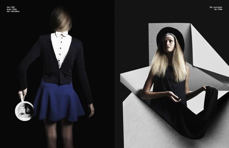 Shirt / PBO Jacket / Nikkie Skirt / Mint&Berry Opposite Hat / Acne Studios  Top / Nikkie