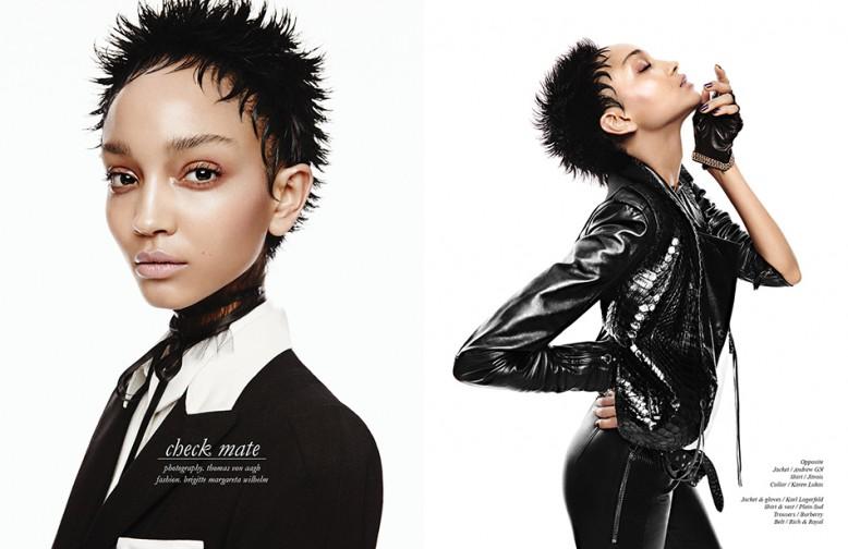Jacket / Andrew GN Shirt / Jitrois Collar / Karen Lukas Opposite Jacket & gloves / Karl Lagerfeld Shirt & vest / Plein Sud Trousers / Burberry Belt / Rich & Royal