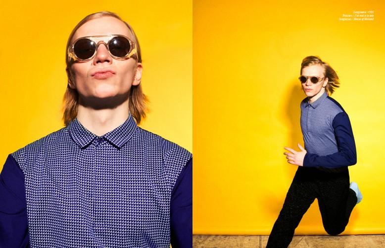 Longsleeve / COS Trousers / J'ai mal à la tete Sunglasses / House of Holland