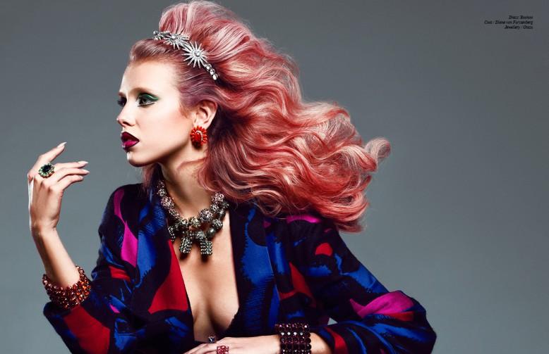 Dress/ Boohoo Coat / Diane von Furstenberg Jewellery / Otazu