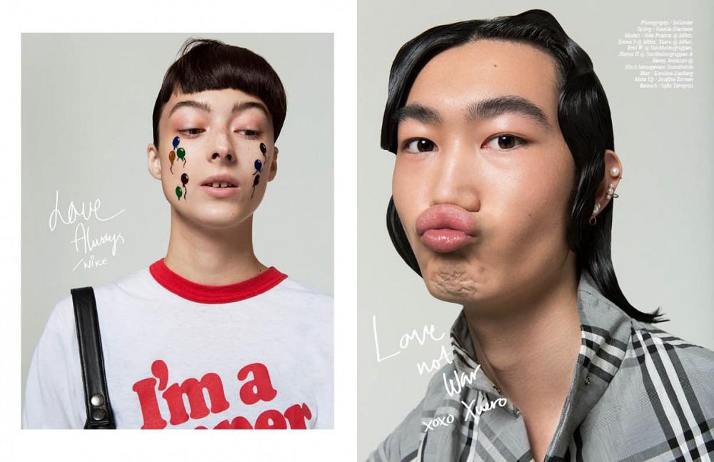 T-shirt / vintage Dungaree / Otto´d Ame Concealer / Yves Saint Laurent Eyebrows / MAC Eyeshadow / MAC Cheeks / Makeupstore Highlighter / Nars Lip balm / Soley Organics Opposite Shirt / Whyred Jewellery / Jane Koening Skin / Soley Organics Lip balm / Homeoplasmine