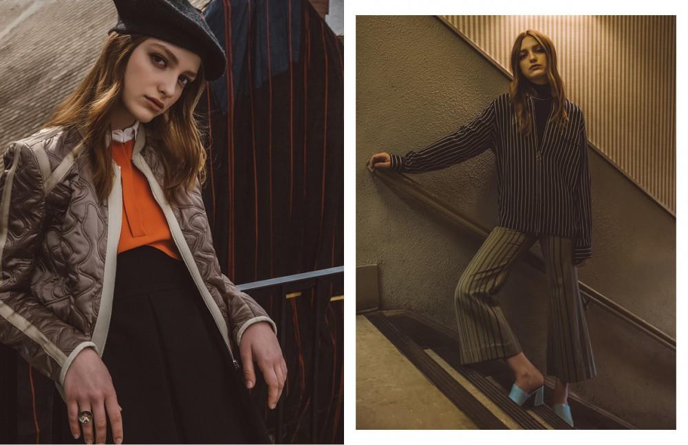 Dress / Giulietta Jacket / Belstaff Hat / Timo Weiland Opposite Top & Shirt / Timo Weiland Trousers / Zimmermann Shoes / Maryam Nassir Zadeh Necklace / Samma
