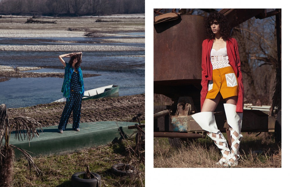 Jacket / Gianluca Capannolo Top & Trousers / Ports 1961 Shoes / Ouigal Opposite Jacket / Malloni Shirt, Skirt & Cuissard / Kenzo