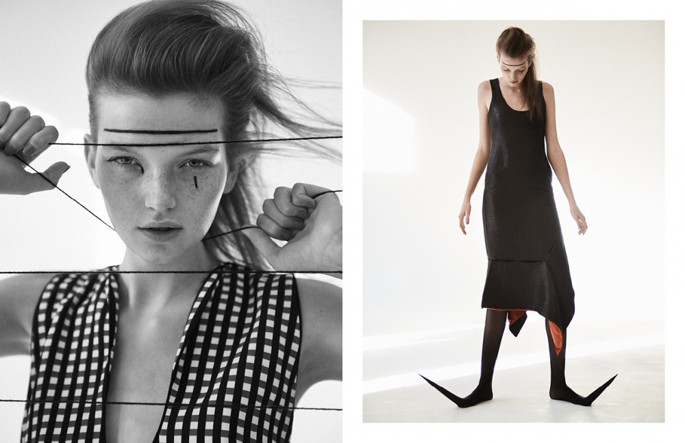 Dress / Preen by Thornton Bregazzi Opposite Dress / Prabal Gurung Tights / Heist