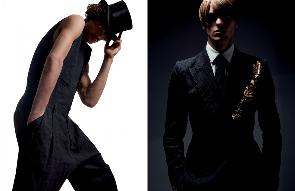 Jumpsuit / Isabel Benenato Hat / Bates Hats Opposite Suit / Dries Van Noten Shirt / Yohji Yamamoto Tie / Charvet