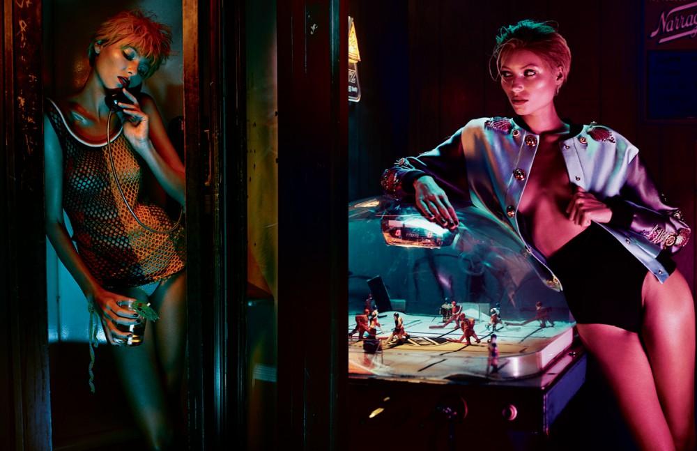 Vest & bikini bottom / Tommy Hilfiger Collection Opposite Jacket / Fausto Puglisi Briefs / Wolford