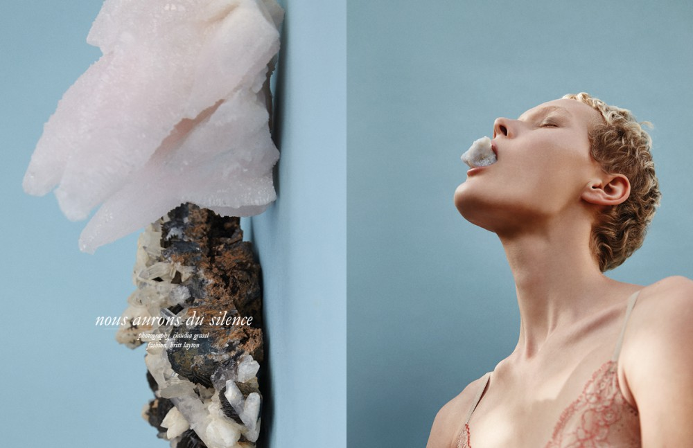 Crystals / Moroccan Red Quartz & Fluorite Opposite Bra / Calvin Klein Crystal / Chalcedony