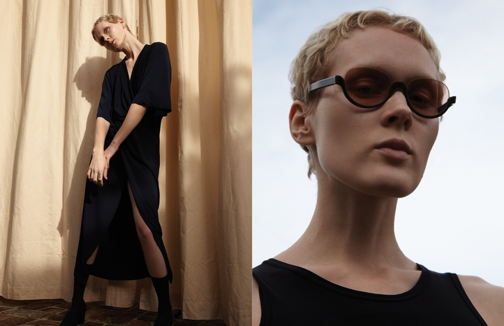 Dress / Michael Kors Collection Socks / Topshop Shoes / Stuart Weitzman Opposite Bodysuit / Jil Sander Sunglasses / Fendi
