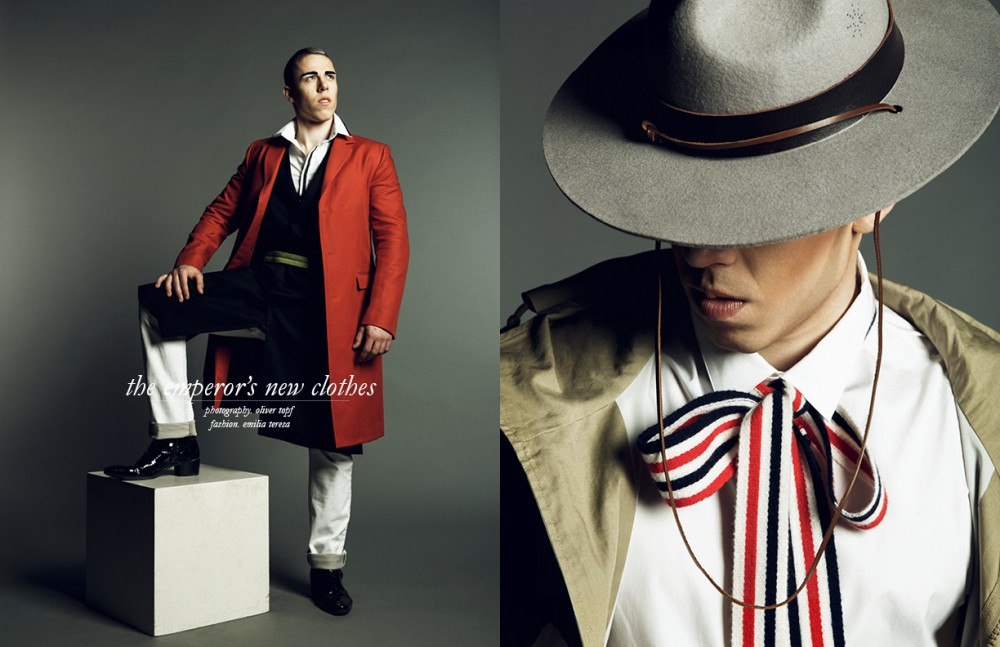 Coat / Z Zegna Shirt / Les Hommes by Amicis Vienna Vest & Shoes / Tom Rebl Jeans / Diesel Belt / Shakke Opposite Jacket & Tie / Moncler Shirt / Dior by Amicis Vienna Vintage Hat & Pipe / Burggasse 24
