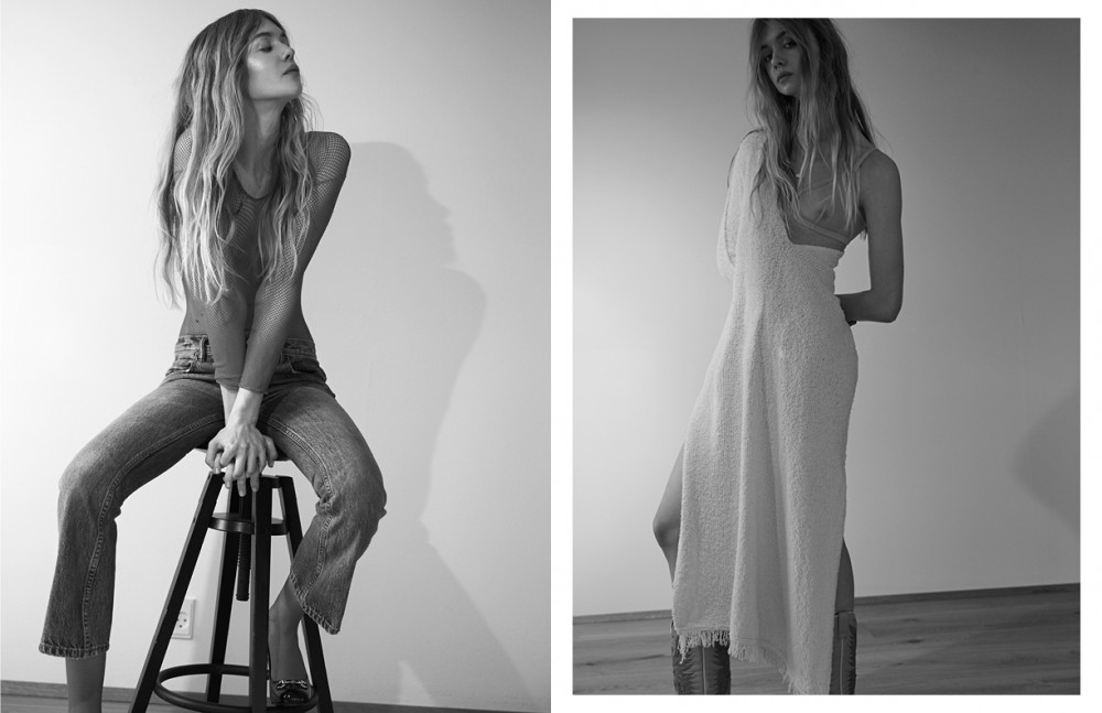 Bodysuit / Stylist's Own Jeans / Alexander Wang Pumps / Gucci Opposite Bra / ERES at Annesax.dk Dress / By Malene Birger Boots / Laedersmeden.dk