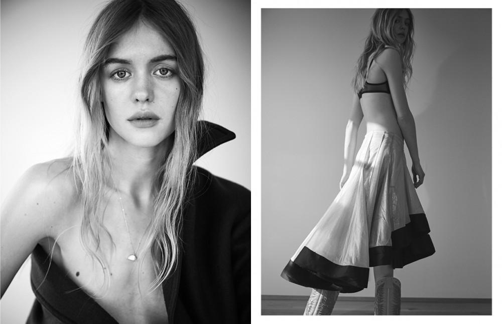 Neckace / Katrine Kristensen Coat / Céline Opposite Bra / L'Agent by Agent Provocateur at Annesax.dk Skirt / Freya Dalsjö Boots / Laedersmeden.dk