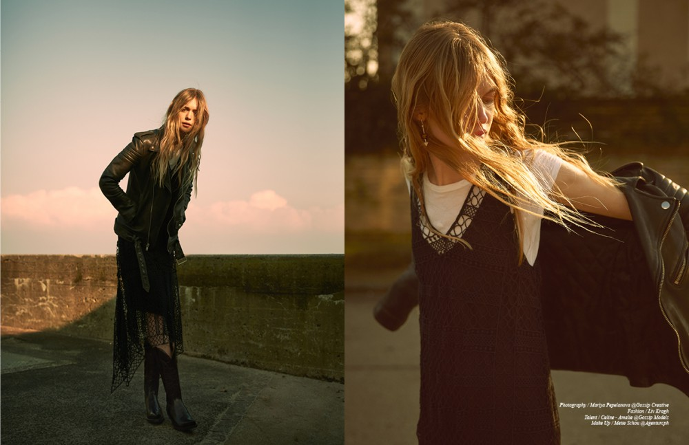 Leather Jacket / BLK DNM T-Shirt / COS Dress / By Malene Birger Boots / Laedersmeden.dk