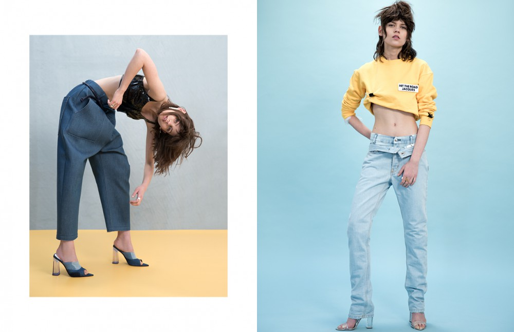 Earring / COS Trousers & Top / Julien David Belt / Martin Grant Shoes / Amelie Pichard X Pamela Anderson Opposite Top / Hit The Road Jacques Ring / Murat Inside Jeans / Seafarer Outside Jeans / Melinda Gloss Shoes / Aperlai