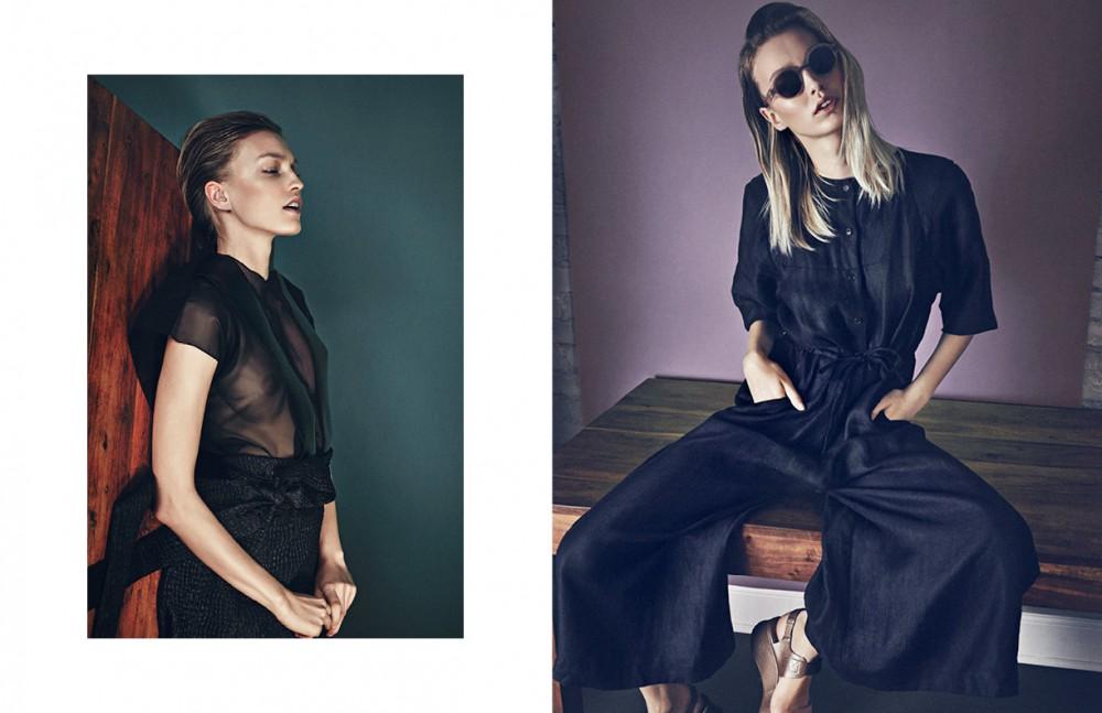 Look / Stefan Eckert Opposite Trouser Suit / Henrik Vibskov Shoes / Chie Mihara Sunglasses / Mykita x Maison Margiela