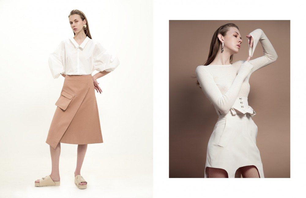 Shirt / Faith Connexion Skirt / COS Shoes / Ellery Earrings / Viveka Bergström Opposite Jumper / Allude Skirt / Anne Sofie Madsen Earring / COS
