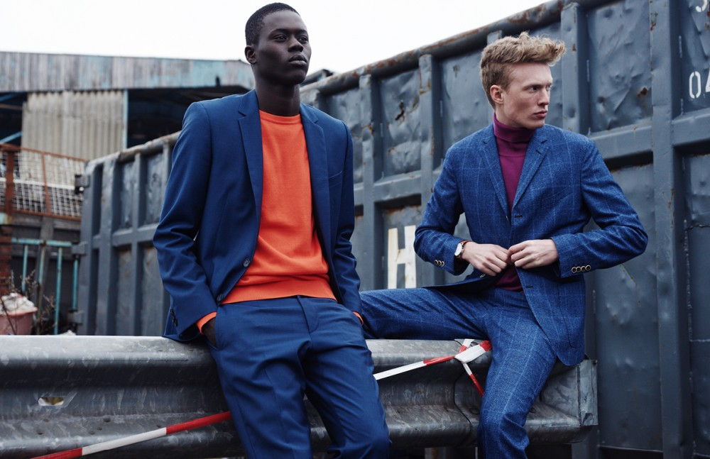 Alpha Dia @ Modelwerk wears Suit / BOSS Jumper / BOSS Orange Opposite Phillip Wörtmann @ Modelwerk wears Suit / Herr von Eden Turtleneck / Benetton