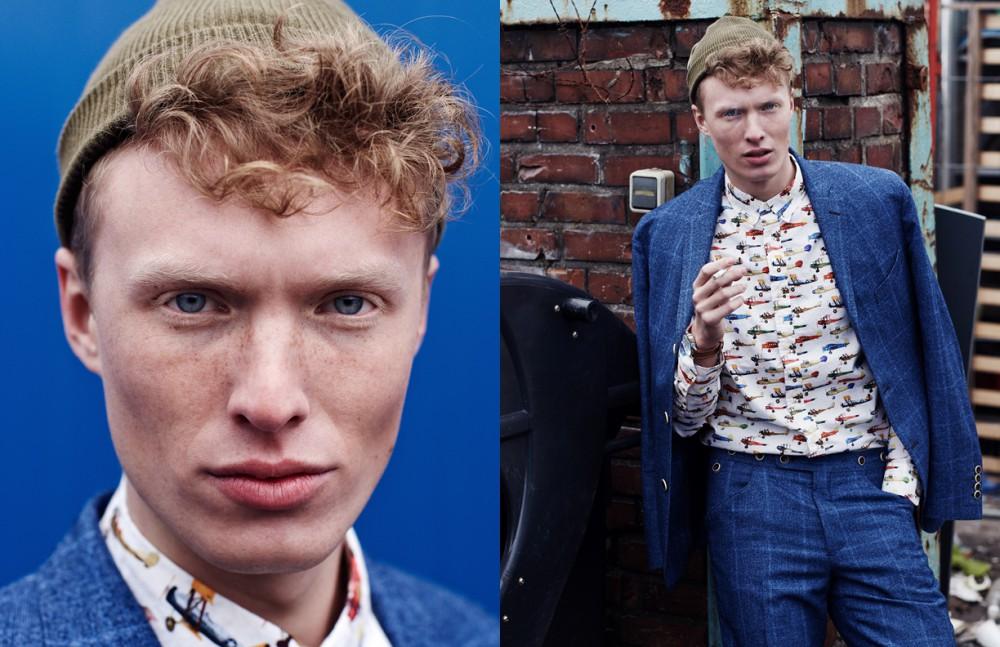Phillip Wörtmann @ Modelwerk wears Beanie / Weekday Suit / Herr von Eden Shirt / Topman