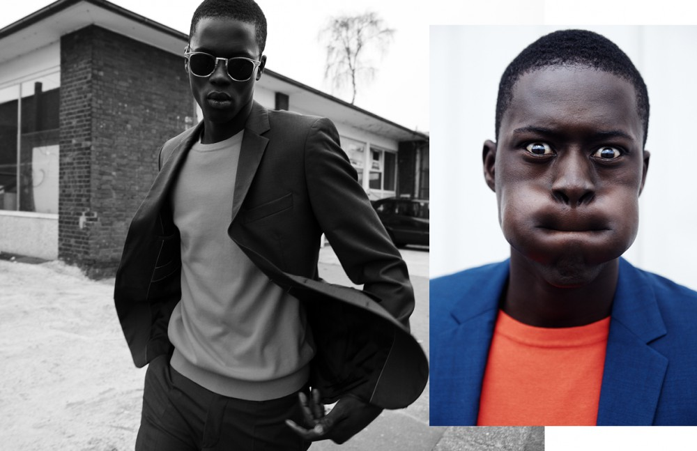 Alpha Dia @ Modelwerk wears Suit / BOSS Jumper / BOSS Orange Sunglasses / Persol