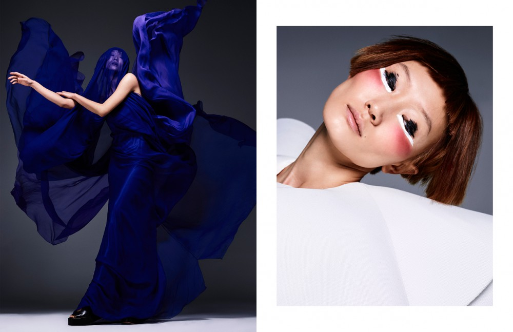 Blue Dress / Ulises Mérida Sandals / Sportmax Opposite White Dress / Amaya Arzuaga