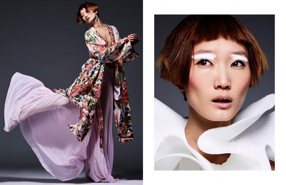 Kimono / H&M Pleated Plants / Liu Jo Sandals / SixtySeven Earrings / COS Opposite White Dress / Amaya Arzuaga
