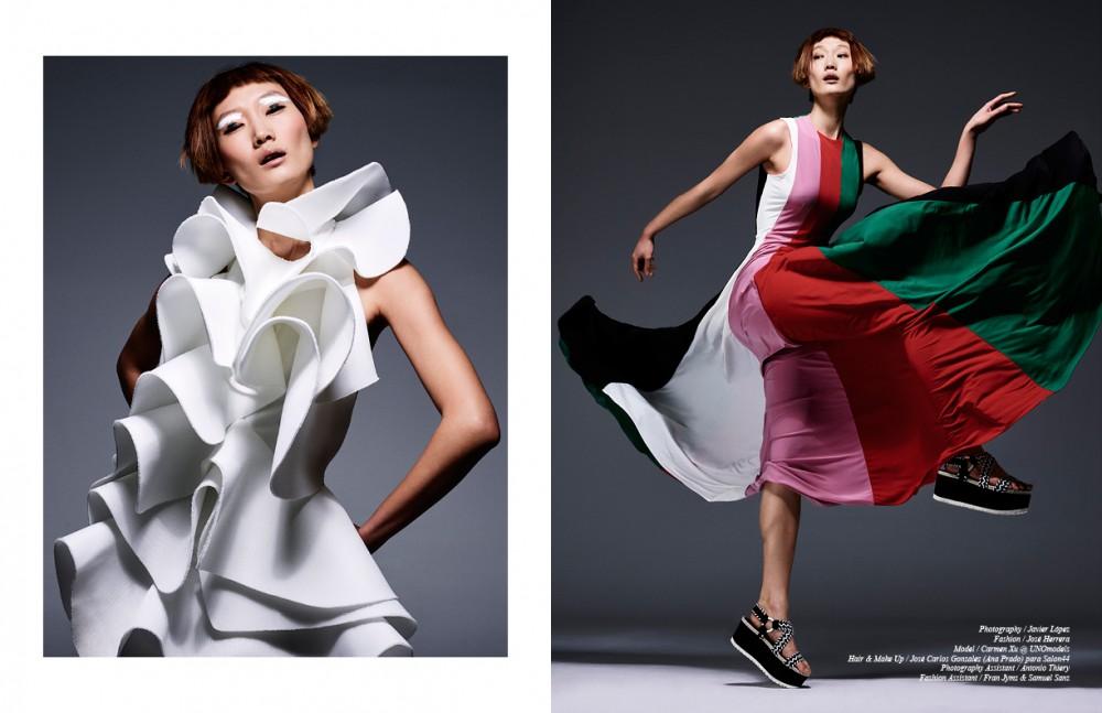 White Dress / Amaya Arzuaga Opposite Dress Colours / davidelfin Sandals / Stuart Weitzman