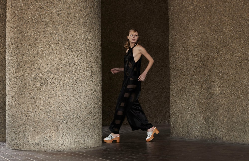 Jumpsuit / PAPER London Shoes / Robert Clergerie Earrings / Rue Gembon