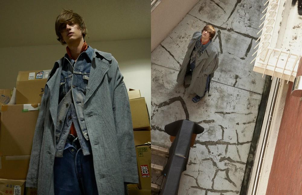 Coat / LAILA TOKIO Jacket 1 & Trousers 3 / Levi's Jacket 2 / SURR by LAILA Trousers 4 & Orange Jumpsuit / MECHA