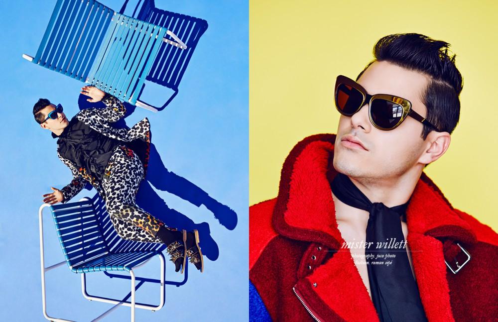 Suit / Henrik Vibskov Top / SAV NOIR Opposite Jacket / ZIZTAR Necktie / Maison F Eyewear / Glassing