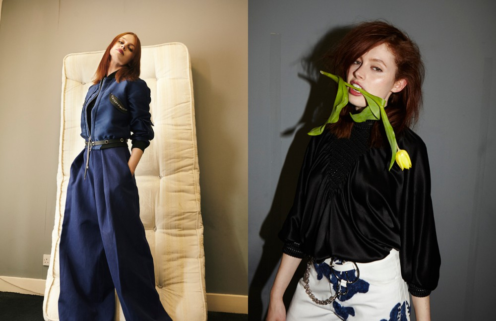 Jacket, trousers & belt / Tod's Opposite Blouse / Fendi Trousers / Faustine Steinmetz Belt / McQ by Alexander McQueen