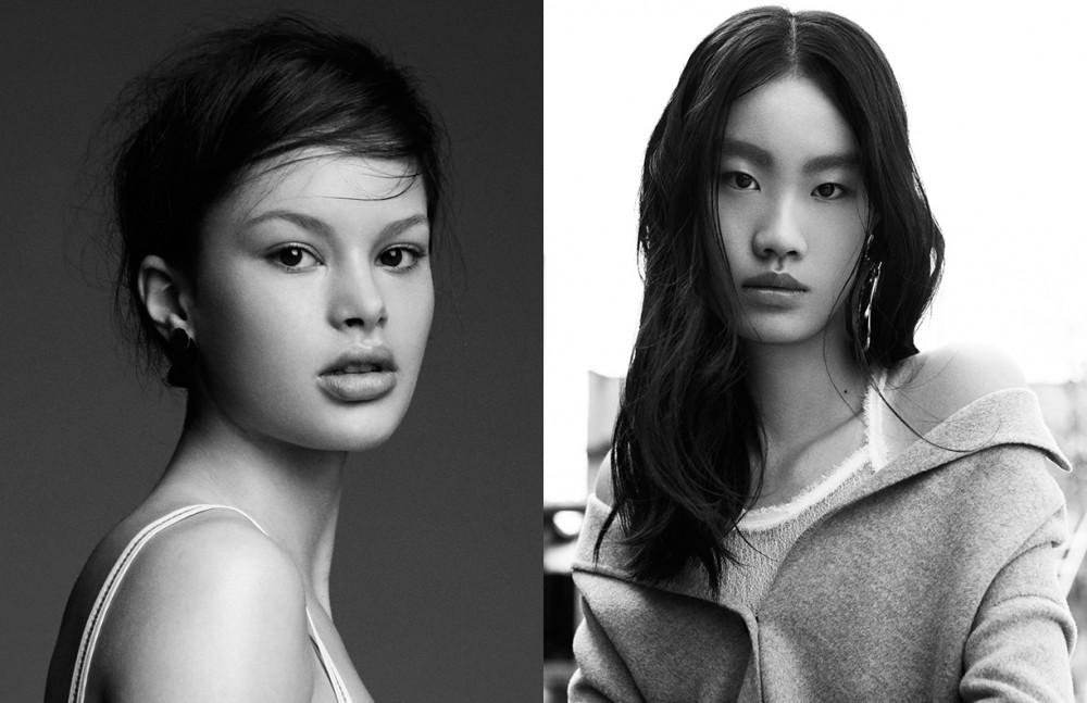 Madison @ Wilhelmina Top / ADAM SELMAN Earrings / Samma Opposite Yiqi @ Wilhelmina wears Top / babyghost Jacket / JOSEPH Earring / Mounser
