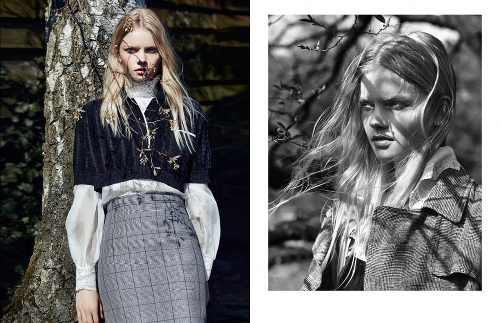 Cropped Polo & Skirt / Miu Miu Blouse / Dolce&Gabbana Opposite Coat / Intropia Blouse / Stylist's Own Dress / & Other Stories