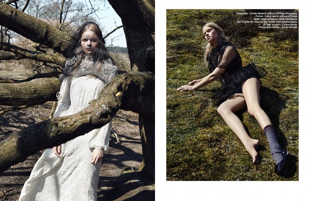 Dress / Utopia Shawl / Stylist's Own Opposite Dress / Miu Miu Undewear / Hanro