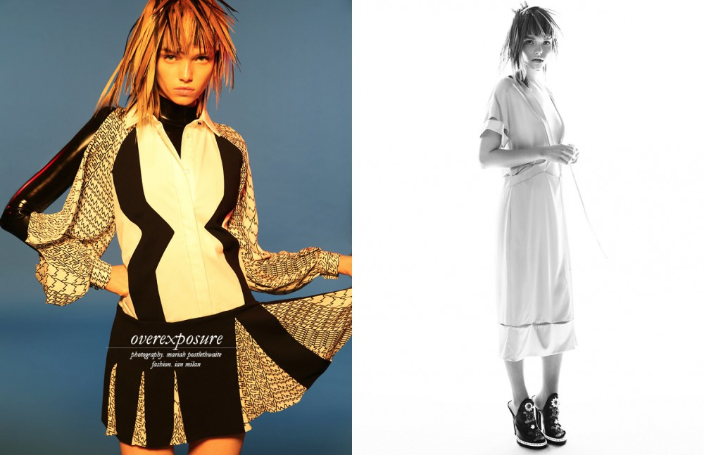 Dress / KENZO Top (underneath) / Vex Inc. Latex Opposite Dress / Prabal Gurung Dress (underneath) / Vex Inc. Latex Heels / Fendi