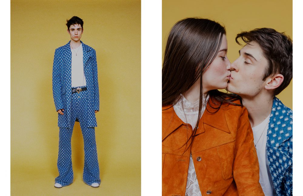 Nahuel Serrano wears Suit / Alexandre Pham Opposite Eleonore Serres wears Top / & Other Stories Suit / Vintage Nahuel Serrano wears Suit / Alexandre Pham