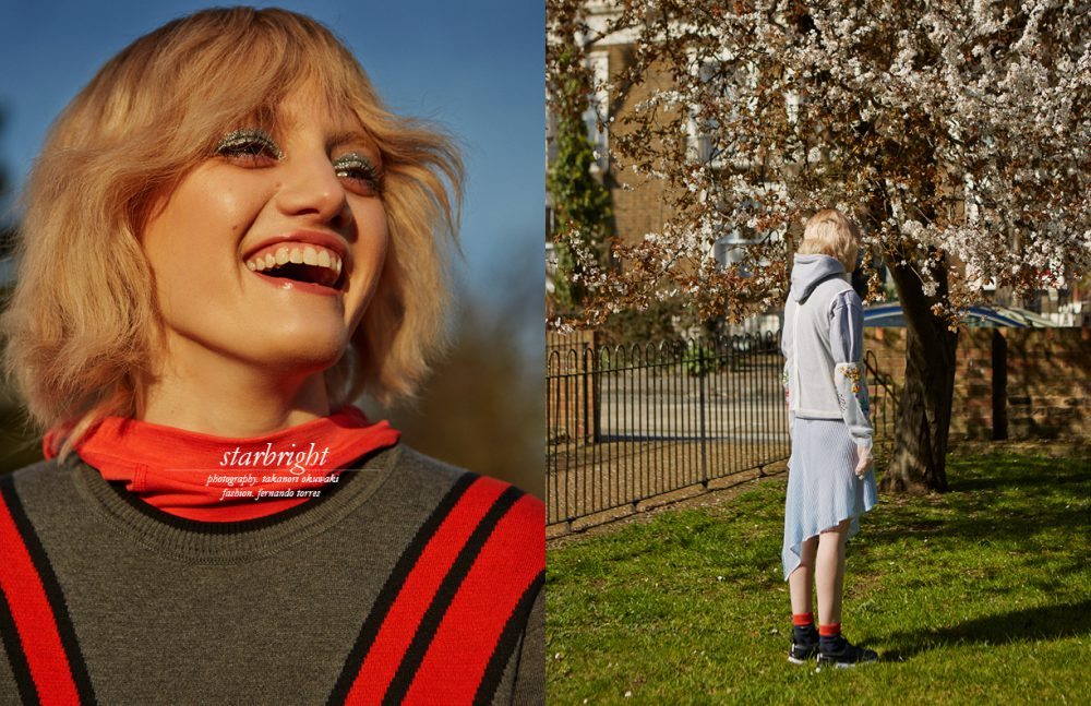 Hoodie / Nike Sweatshirt / Lacoste Opposite Hoodie / Nike Gloves & Mesh Top / Ashish Dress / Dagmar
