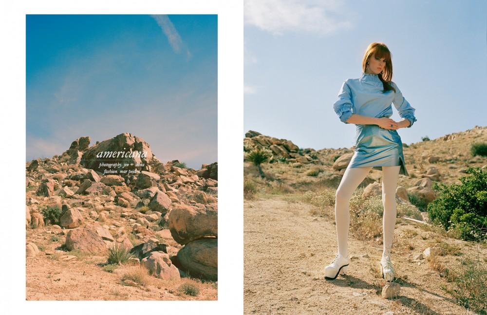 Shirt / Style Mafia Skirt / Vivienne Westwood Shoes / J.W. Anderson Earrings / Mondo Mondo X Shaina Mote Ring / Mondo Mondo