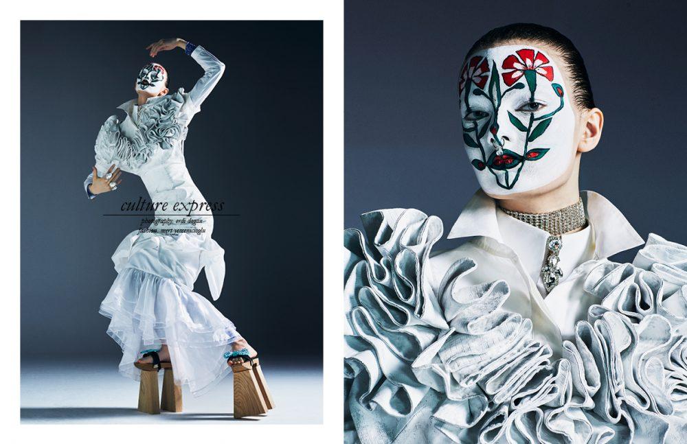 Dress / Ozlem Suer Shirts / White Posture & Theory Choker, septum & shoes / Made by Stylist's Studio