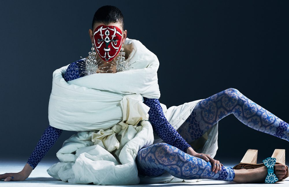 Quilts / IKEA Socks / Penti Belt / Vintage Dior Earrings & shoes / Made by Stylist's Studio