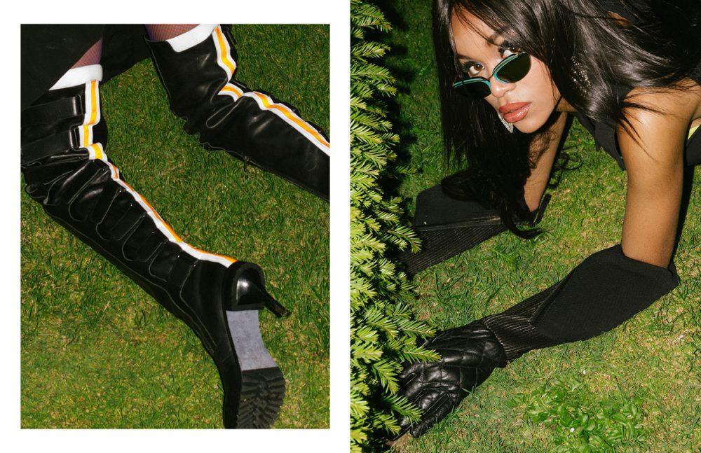 Dress / Christopher Kane Boots / A.F Vandevorst Gloves / Ainur Turisbek