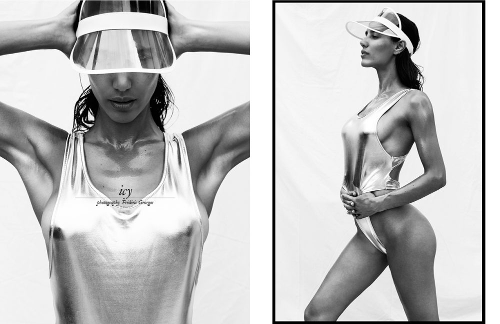 Swimsuit / American Apparel France Visor / Stylist's own