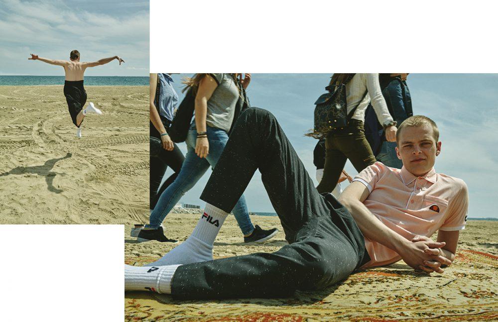 Trousers / Henrik Vibskov Socks / Fila Necklace / Vibe Harslof Opposite Polo Shirt / Ellesse Trousers / Kiomi Socks / Fila