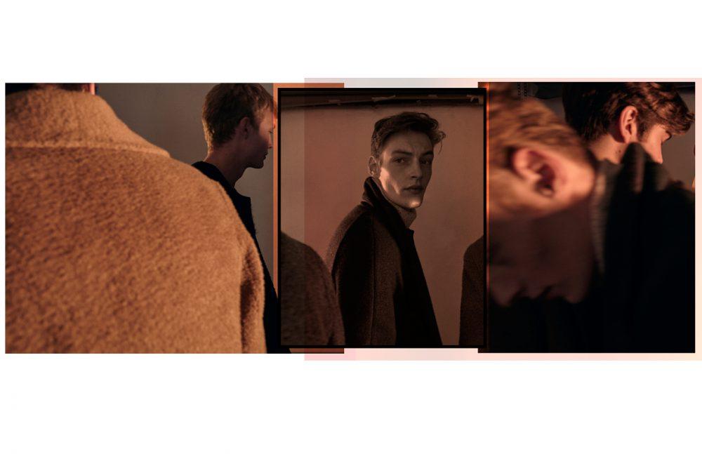 From left to right Sam & Alijah wears Coat / Carlos Campos Roberto wears Coat & turtleneck / Billy Reid