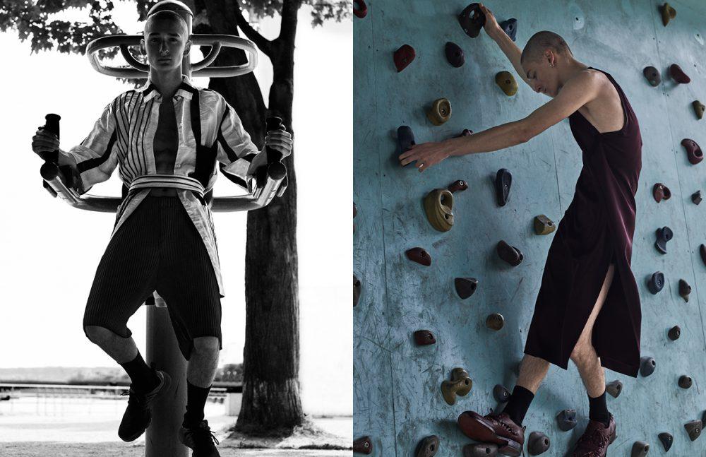 Shirt & Dress / Acne Studios Short / Issey Miyake Shoes / Models Own Opposite Dress & Shoes / Acne Studios